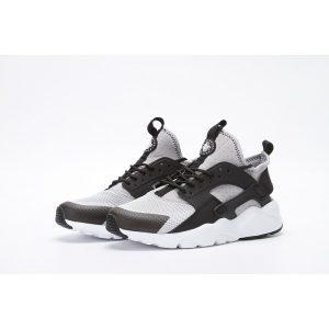 евтини nike air huarache iv 4 мъжки обувки за бягане черно сиво за продажба