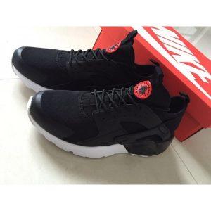 евтини nike air huarache iv 4 мъжки обувки за бягане черно червено бяло продажба