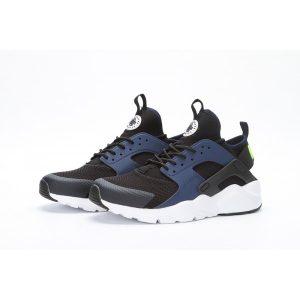 евтини nike air huarache iv 4 мъжки обувки за бягане черно бяло тъмно синьо за продажба