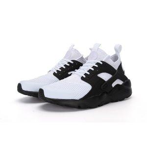 евтини nike air huarache iv 4 мъжки обувки за бягане черно бяло за продажба