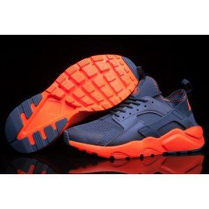 евтини nike air huarache iv 4 мъжки обувки за бягане тъмно синьо оранжево аутлет