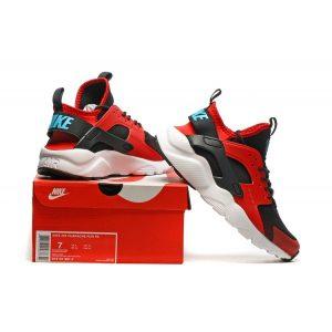 евтини nike air huarache iv 4 дамски обувки за бягане черно червено бяло за продажба