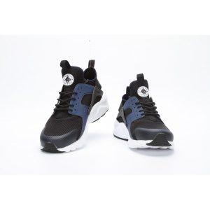 евтини nike air huarache iv 4 дамски обувки за бягане черно бяло синьо на пазара