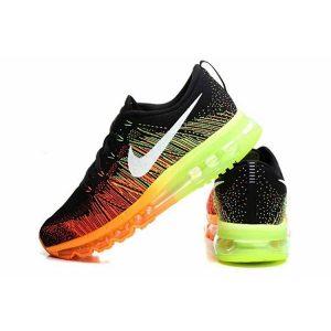 евтини nike air max 2014 мъжки обувки за бягане черно оранжево флуоресцентно зелено продажба