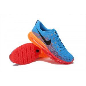 евтини nike air max 2014 мъжки обувки за бягане синьо оранжево аутлет
