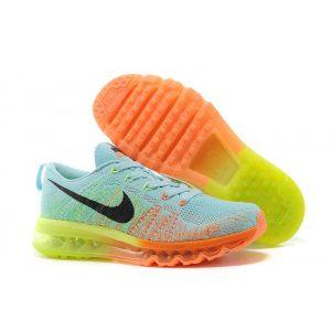 евтини nike air max 2014 мъжки обувки за бягане лунна светлина оранжево флуоресцентно зелено