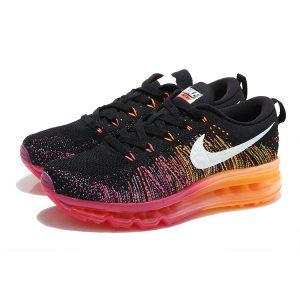 евтини nike air max 2014 дамски обувки за бягане черни розови оранжеви продажба