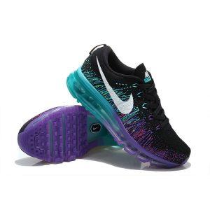 евтини nike air max 2014 женски обувки за бягане черни лилави зелени за продажба