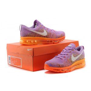 евтини nike air max 2014 дамски обувки за бягане лилаво оранжево за продажба