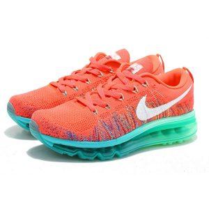 евтини nike air max 2014 дамски обувки за бягане червено зелено за продажба