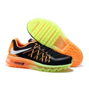 евтини nike air max 2015 мъжки обувки за бягане черно оранжево флуоресцентно зелено продажба