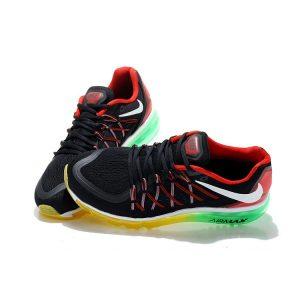 евтини nike air max 2015 мъжки обувки за бягане черни червени зелени продажба