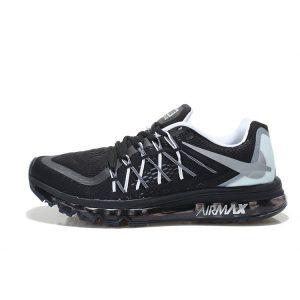 евтини nike air max 2015 мъжки обувки за бягане черно бяло аутлет