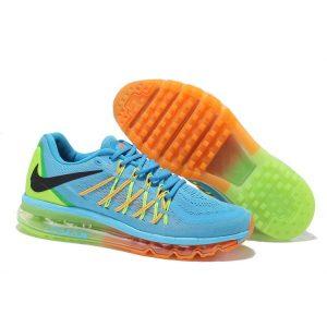 евтини nike air max 2015 мъжки обувки за бягане синьо зелено оранжево продажба