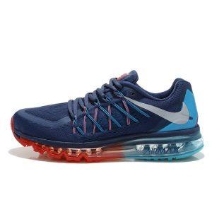 евтини nike air max 2015 мъжки обувки за бягане синьо червено луна аутлет