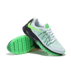 евтини nike air max 2015 мъжки обувки за бягане бяло черно флуоресцентно зелено за продажба