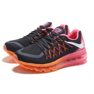 евтини nike air max 2015 дамски обувки за бягане черни розови оранжеви за продажба