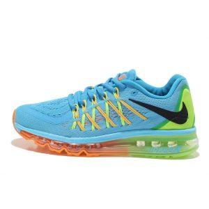 евтини nike air max 2015 дамски обувки за бягане синьо зелено оранжево навън