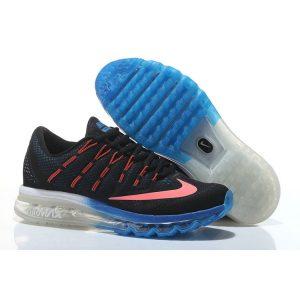 евтини nike air max 2016 мъжки обувки за бягане черно синьо продажба