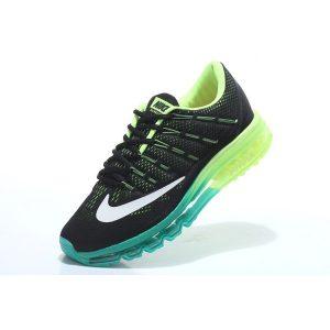 евтини nike air max 2016 мъжки обувки за бягане черни флуоресцентно зелени за продажба