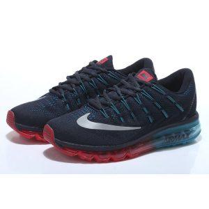 евтини nike air max 2016 мъжки обувки за бягане черни луна червени аутлет