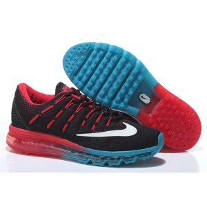 евтини nike air max 2016 мъжки обувки за бягане черно червено синьо за продажба