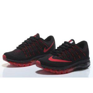 евтини nike air max 2016 мъжки обувки за бягане черни червени на едро
