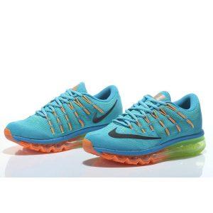 евтини nike air max 2016 мъжки обувки за бягане синьо зелено оранжево продажба