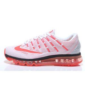 евтини nike air max 2016 мъжки обувки за бягане бяло оранжево за продажба