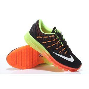 евтини nike air max 2016 дамски обувки за бягане черни флуоресцентни зелени оранжеви продажба