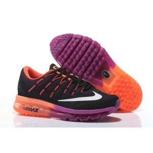 евтини nike air max 2016 дамски обувки за бягане черно оранжево лилаво продажба