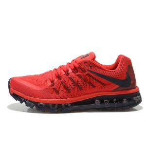евтини nike air max 2015 мъжки обувки за бягане черно червено за продажба