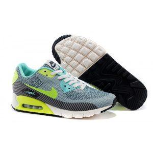 евтини nike air max 90 дамски обувки за бягане безшевни черен нефрит флуоресцентно зелено
