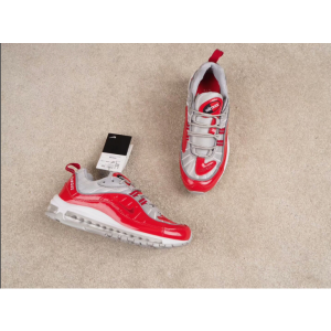 евтини nike air max 98 мъжки обувки сребристо червено