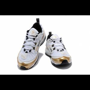 евтини nike air max 98 мъжки обувки бяло злато продажба
