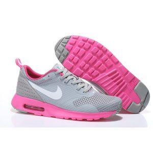 евтини nike air max thea print 2 дамски обувки за бягане розово сиво на едро