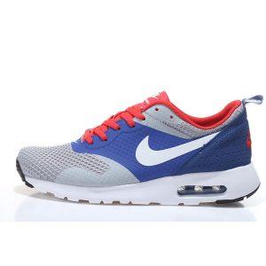 евтини nike air max thea print 2 дамски обувки за бягане червено синьо сиво на едро