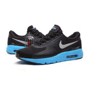 евтини nike air max zero мъжки обувки за бягане черно синьо изложение продажба