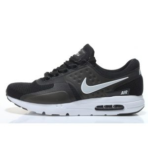 евтини nike air max zero мъжки обувки за бягане черно бяло за продажба