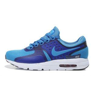 евтини nike air max zero мъжки обувки за бягане бяло синьо изложение