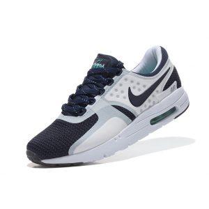 евтини nike air max zero мъжки обувки за бягане бели тъмно сини на едро