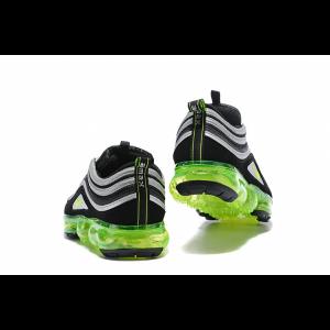 евтини nike air vapormax 97 мъжки обувки черно бяло зелено