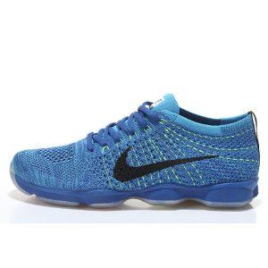 евтини nike air zoom fit agility flyknit мъжки обувки за бягане сини черни за продажба