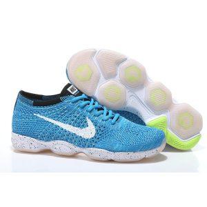 евтини nike air zoom fit agility flyknit мъжки обувки за бягане бяло синьо outlet