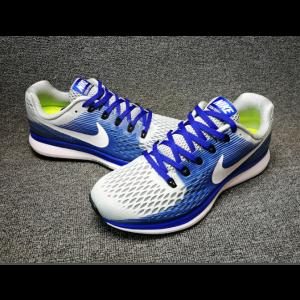евтини nike air zoom pegasus 34 мъжки обувки бяло синьо