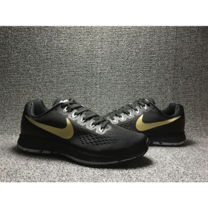 евтини nike air zoom pegasus 34 дамски обувки черно злато