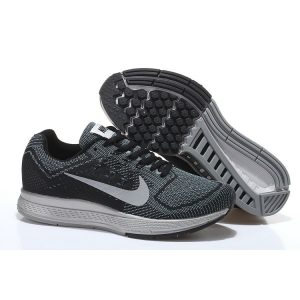 евтини nike air zoom structure 18 мъжки обувки за бягане черни сиви сребърни аутлет