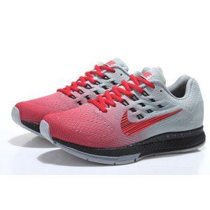 евтини nike air zoom structure 18 мъжки обувки за бягане червено сиво изхода продажба