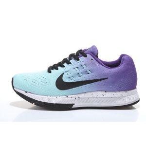 евтини nike air zoom structure 18 дамски обувки за бягане синьо черно лилаво за продажба