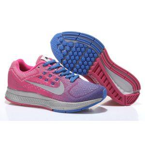 евтини nike air zoom structure 18 дамски обувки за бягане прасковено синьо сребърно на пазара